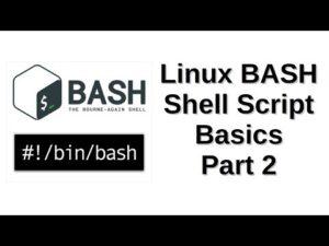 Linux BASH Shell Script Basics Part 2