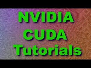 NVidia CUDA Tutorial